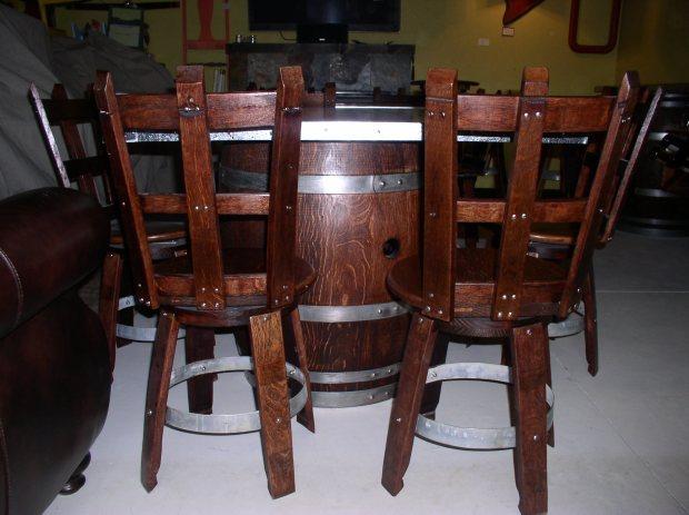 Wine barrel chair plans pdf download wood duck house for Barrel cabin plans