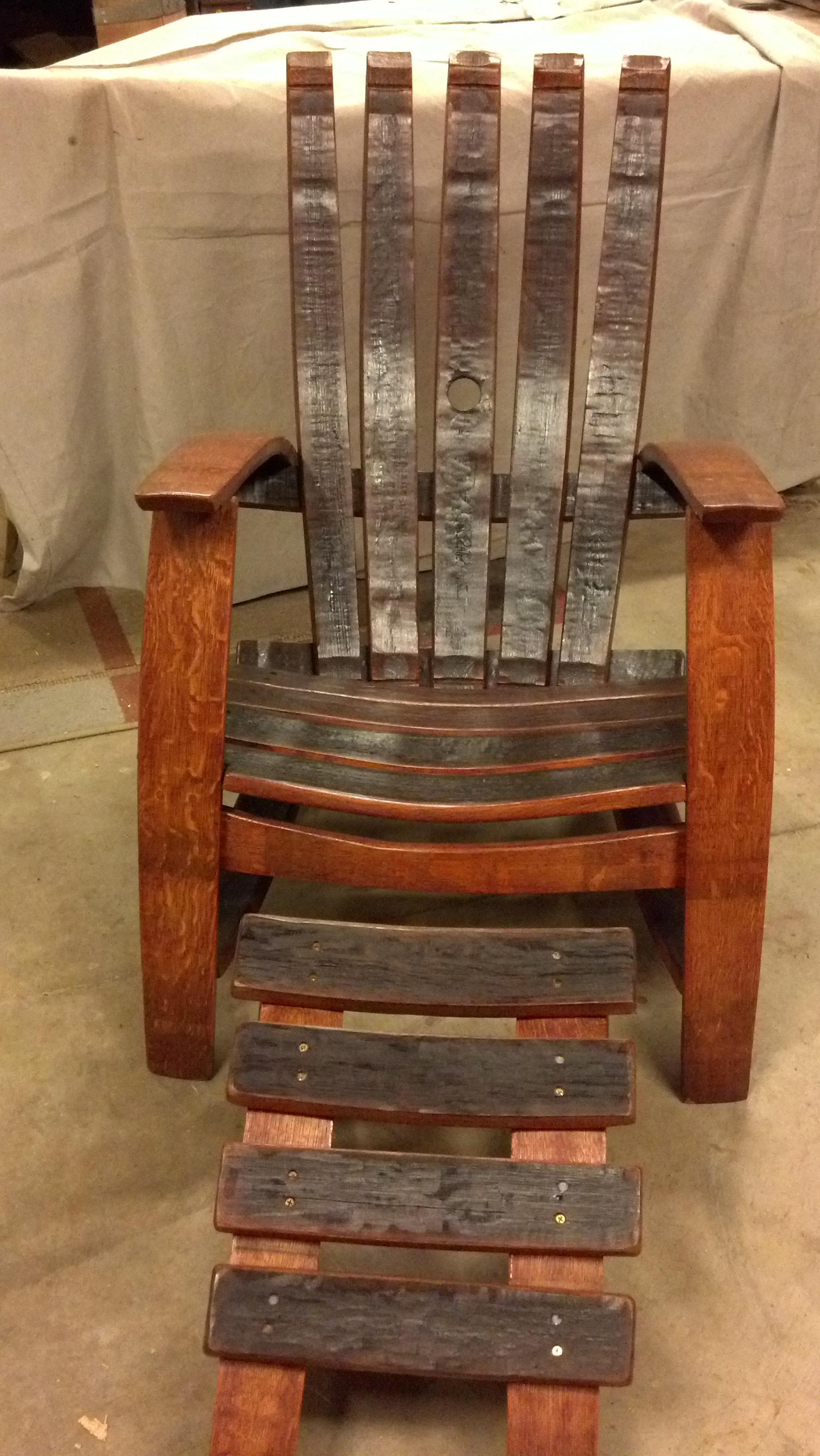 adirondack chair footstool plan